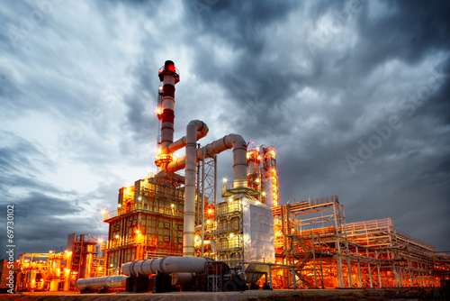 Aluminium Prints Industrial building refinery