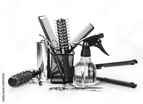 Photo  hairdresser tools