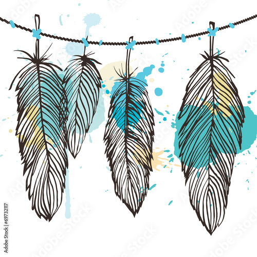 Aquarelle feather set