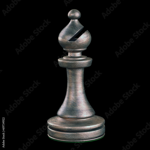Bishop Chess Piece. Clipping path included. Wall mural