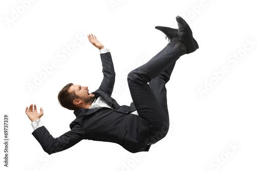 Fototapeta falling and screaming businessman obraz