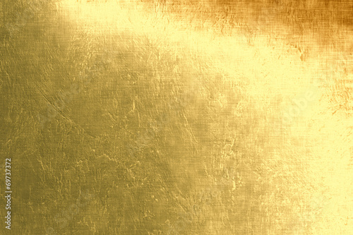 Fotografia  Gold metallic background, linen texture