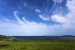 canvas print picture - cirrus clouds over L'Anse aux Meadows, Newfoundland