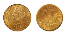 USA 1893 10 Dollars Gold Eagle