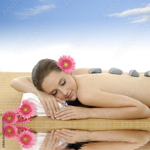Poster Spa Attractive woman getting spa treatment