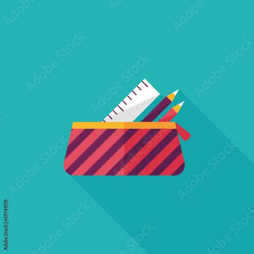 Fotografia pencil box flat icon with long shadow,eps10