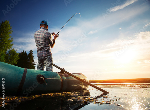 Printed kitchen splashbacks Fishing Fisherman