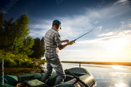 Foto op Aluminium Vissen Fisherman