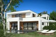 canvas print picture - Villa Bauhaus