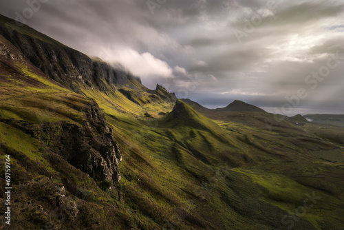 Foto op Canvas Bleke violet Quiraing view