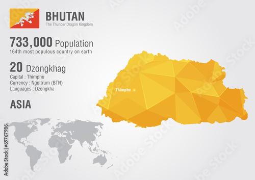 World Map Bhutan.Bhutan World Map With A Pixel Diamond Texture Buy This Stock