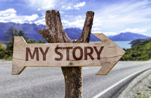 My Story Sign With A Road Background