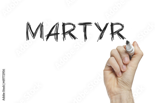 Fotomural Hand writing martyr