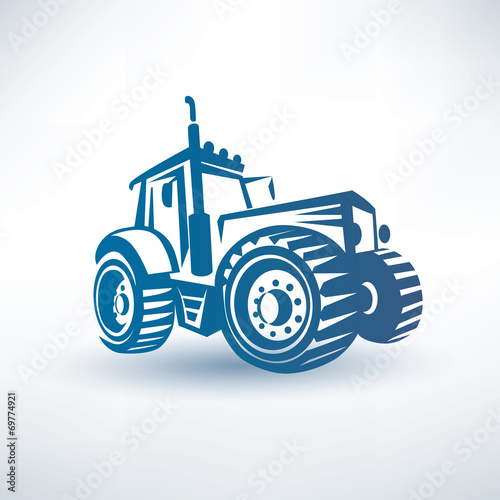 Tablou Canvas modern traktor vector symbol