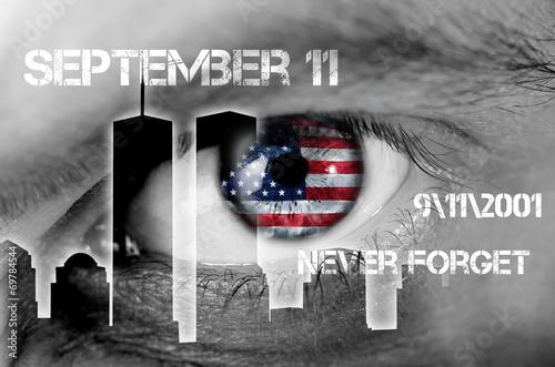 Fotografia  concetto 11 settembre