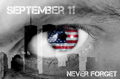 Tela  concetto 11 settembre