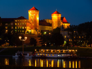 Obraz na PlexiWawel Castle by night