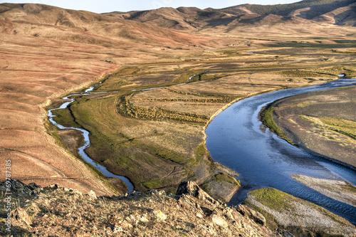 Valokuvatapetti Flusslandschaft