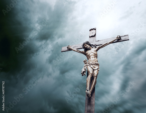 crucifixion of Jesus Christ Wall mural