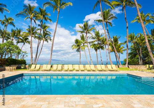 Fotografie, Obraz  Tropical Resort Pool