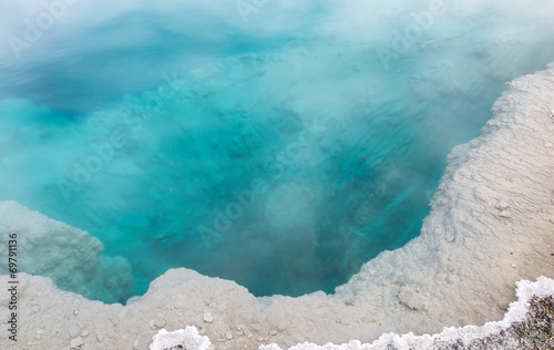 Canvas Prints Countryside Deep aqua color hot spring in Yellowstone Park