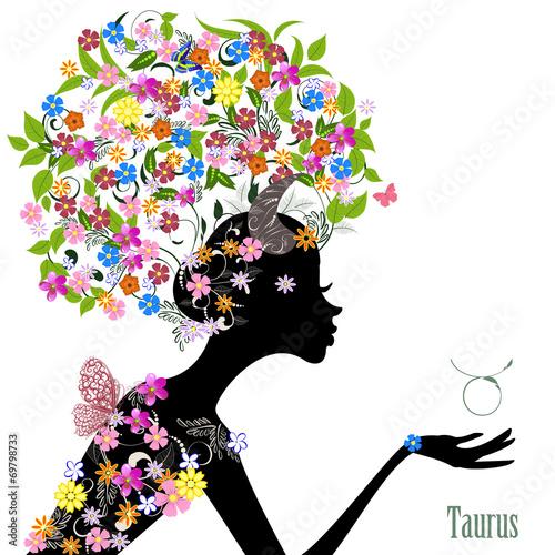 Fototapety, obrazy: Zodiac sign taurus. fashion girl