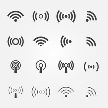 Wireless Icons Set - Vector Wi...