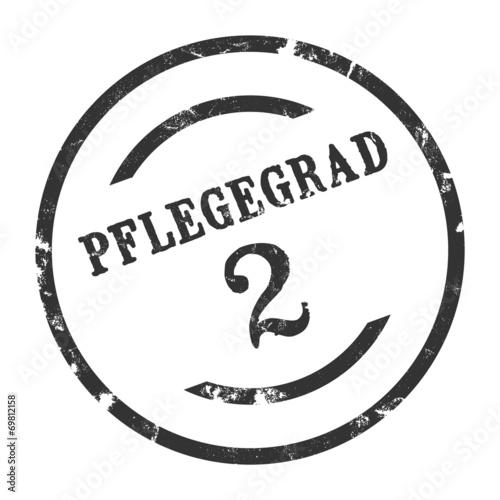 Photo  sk185 - StempelGrafik Rund - Pflegegrad 2 - g1615
