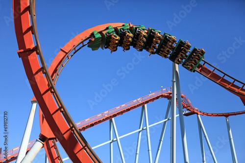 Poster Amusementspark parque de atracciones ocio 0925-f14
