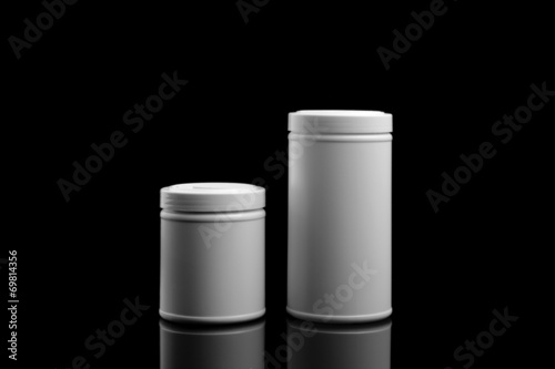 Fotografia  Supplements and Vitamins Bottles and Containers