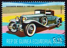 Postage Stamp Equatorial Guinea 1972 Duesenberg Modelo J, 1929 -