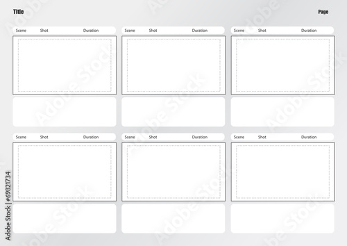 Professional Of Film Storyboard Template Buy This Stock Vector And