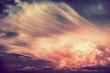 Leinwandbild Motiv Scenic Sunset Storm