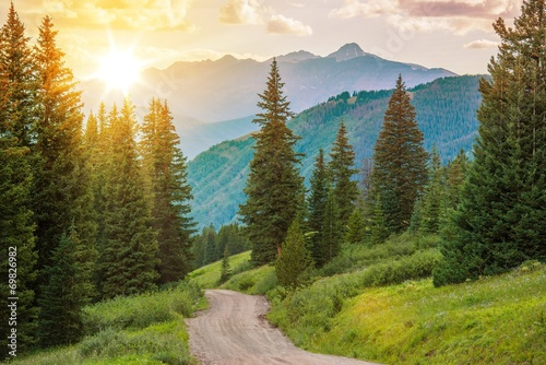 Poster Campagne Mountain Landscape