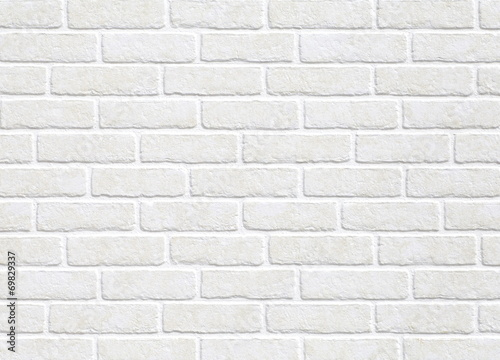 Staande foto Baksteen muur white brick wall background