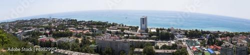 Foto op Aluminium Вид сверху на курортный посёлок Лазаревское. Панорама
