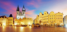 Prague Old Town Square At Nigh...