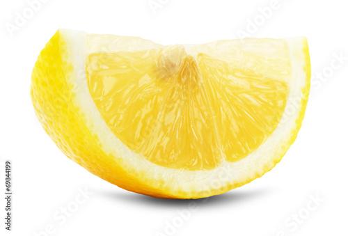 Foto op Aluminium Vruchten juicy lemons isolated on the white background