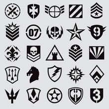 Military Symbol Icons Set 1