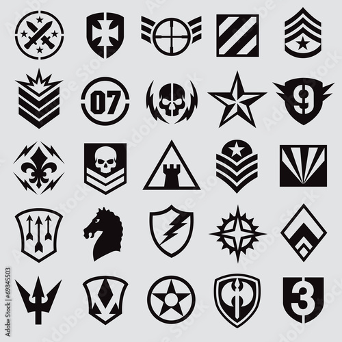 Fotografía  Military symbol icons set 1