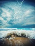 Fototapeta Fototapeta z niebem - Storm seascape in the Ionian