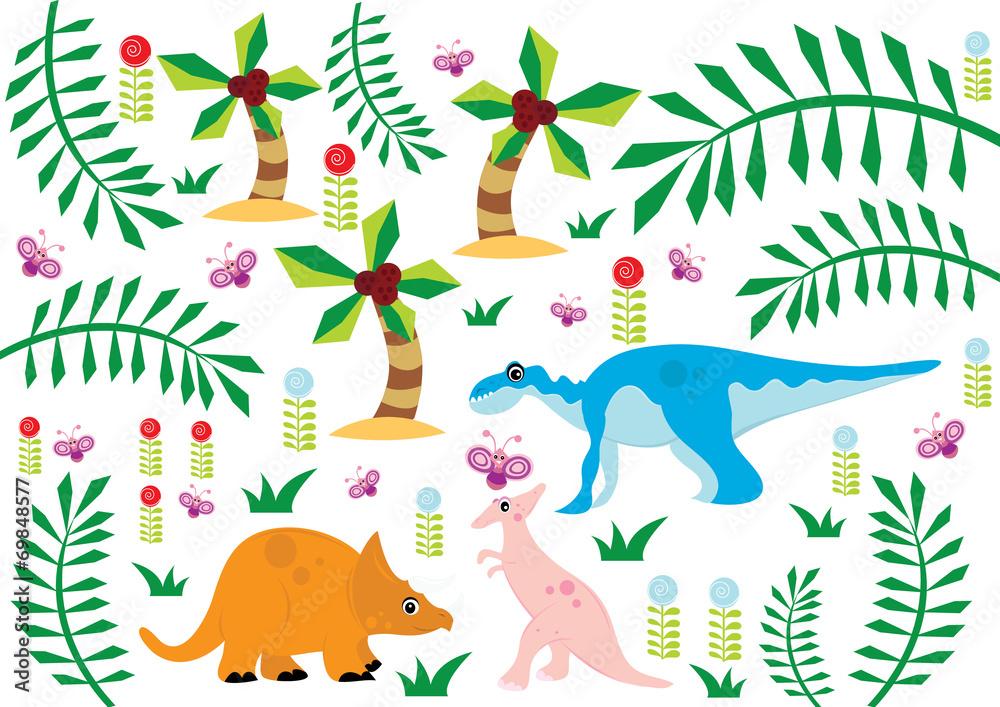 Fototapety, obrazy: dinozaury