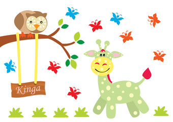 sowa i żyrafa