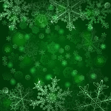 Background Of Snowflakes In Gr...
