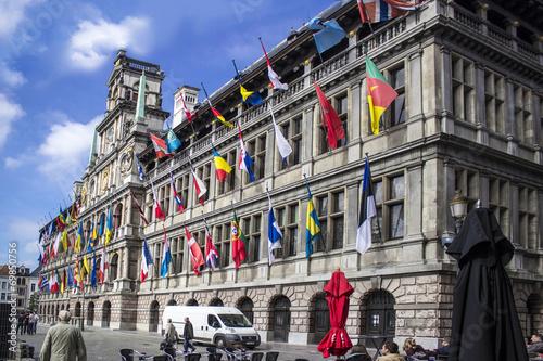 Poster Antwerp Antwerpen city hall