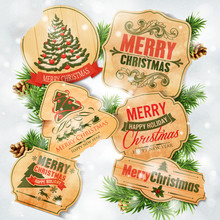 Christmas Vintage Stickers