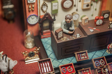 Handmade Toy Fake Interior Detail View