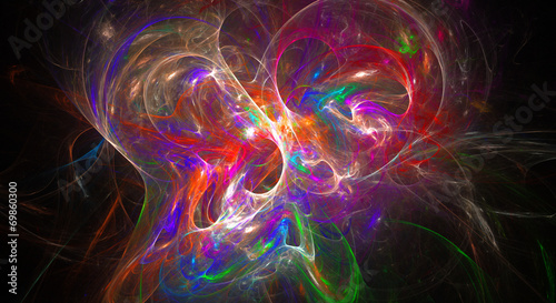 Fotobehang Fractal waves Abstract fractal background