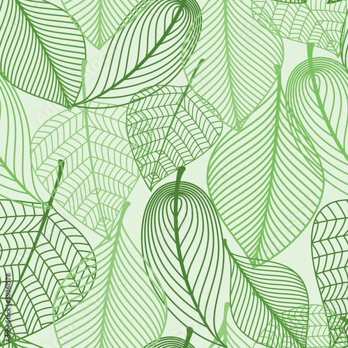 Tapeta zielona  green-leaves-seamless-pattern-background