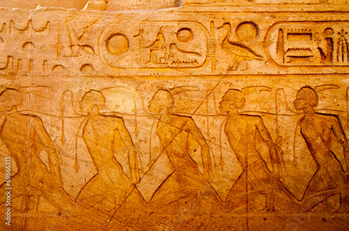 Obraz na plátne  Abu Simbel on the border of Egypt and Sudan
